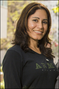 36-year-old Maribel Ramos served two tours in Iraq as an Army Sergeant and is a frequent advocate for veterans.