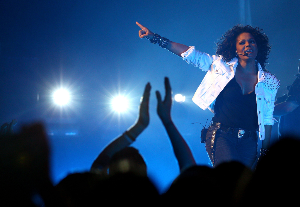 Janet Jackson performs live on stage at the Sydney Opera House on November 5, 2011 in Sydney, Australia. Her recently released song is called