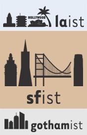 LAist, Gothamist, SFist nameplates