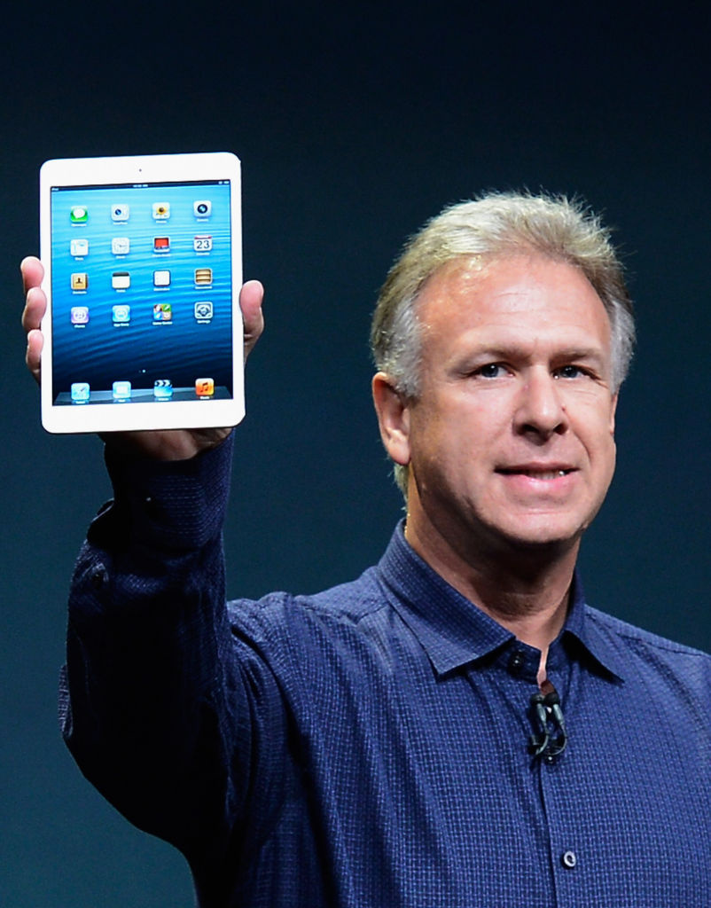 Apple Senior Vice President of Worldwide product marketing Phil Schiller announces the new iPad mini during a special event at the historic California Theater Tuesday morning. The iPad mini is Apple's smaller version of the popular iPad tablet.