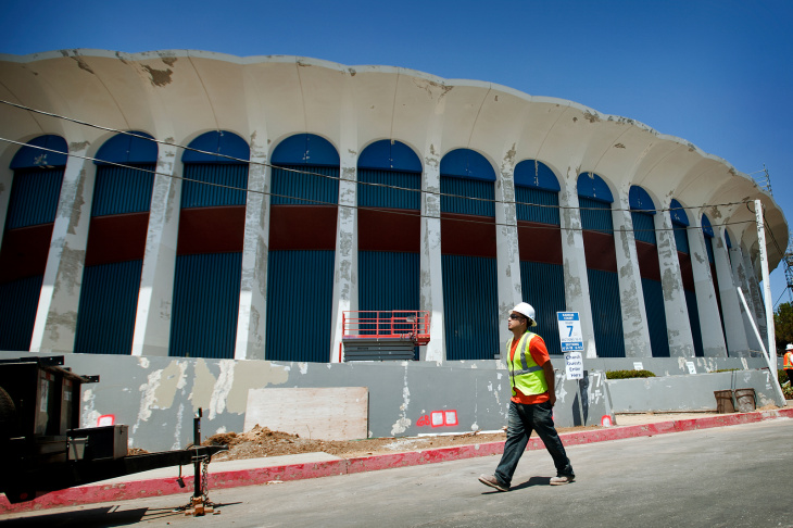The exterior of The Forum will be restored to its original