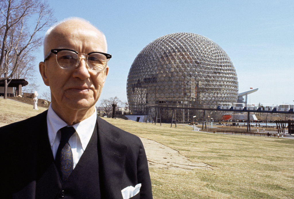Buckminster Fuller and Montreal World's Fair Dome.