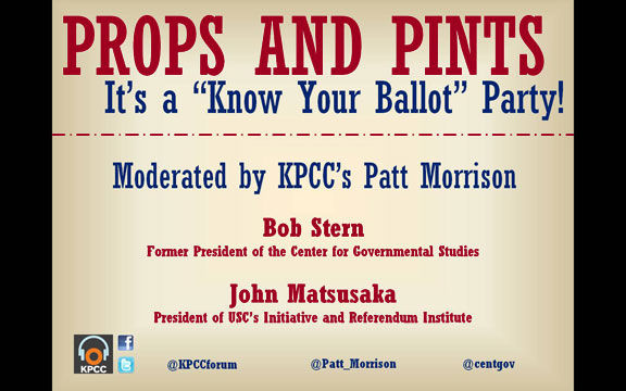 "Props and Pints – It's a ""Know Your Ballot"" Party!"