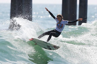Alana Blanchard competes at the U.S. Open of Surfing on July 21, 2010.
