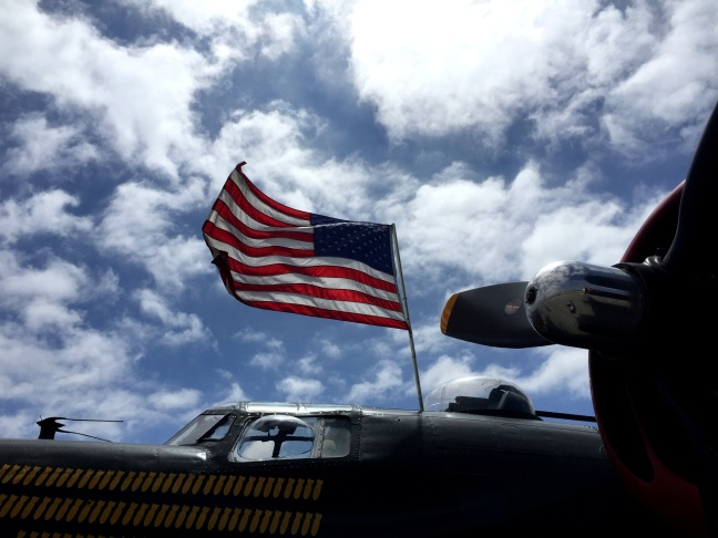 It's hard not to feel patriotic around the B-24.