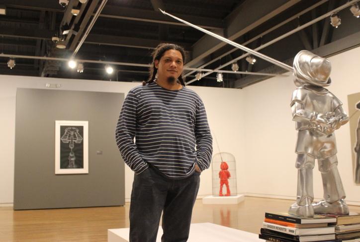 Artist Levi Orta's