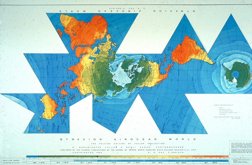 Buckminster Fuller's Dymaxion Map.