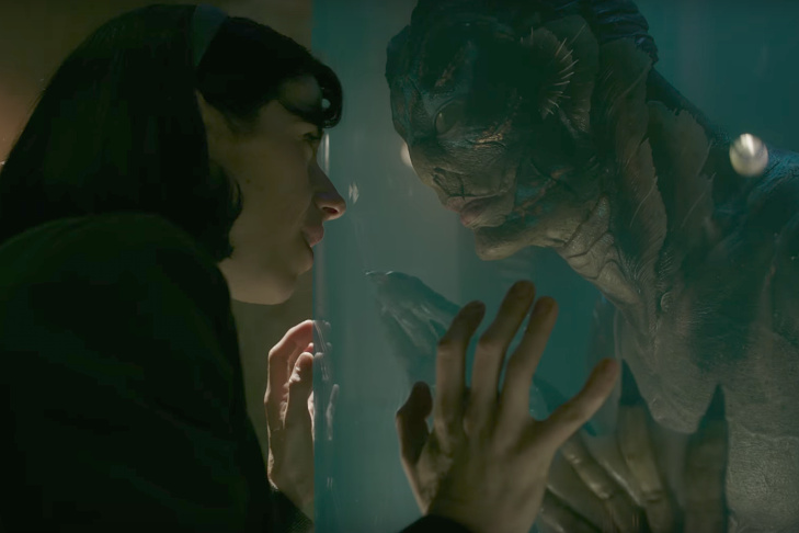 Sally Hawkins and Doug Jones as The Asset in