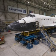 Endeavour In Hanger At LAX