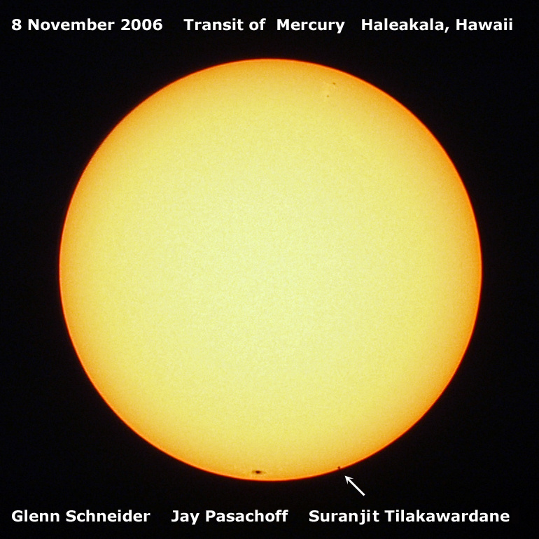 The transit of Mercury from November 2006 as seen from Haleakala, Hawaii.