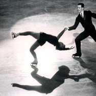 "Ronald And Vivian Joseph perform the ""Death Spiral' on Oct. 26, 1963, at the World Championships. The International Olympic Committee announced this week that the Josephs, who originally placed fourth in the 1964 Winter Games in Innsbruck, Austria, were in fact the bronze medalists."