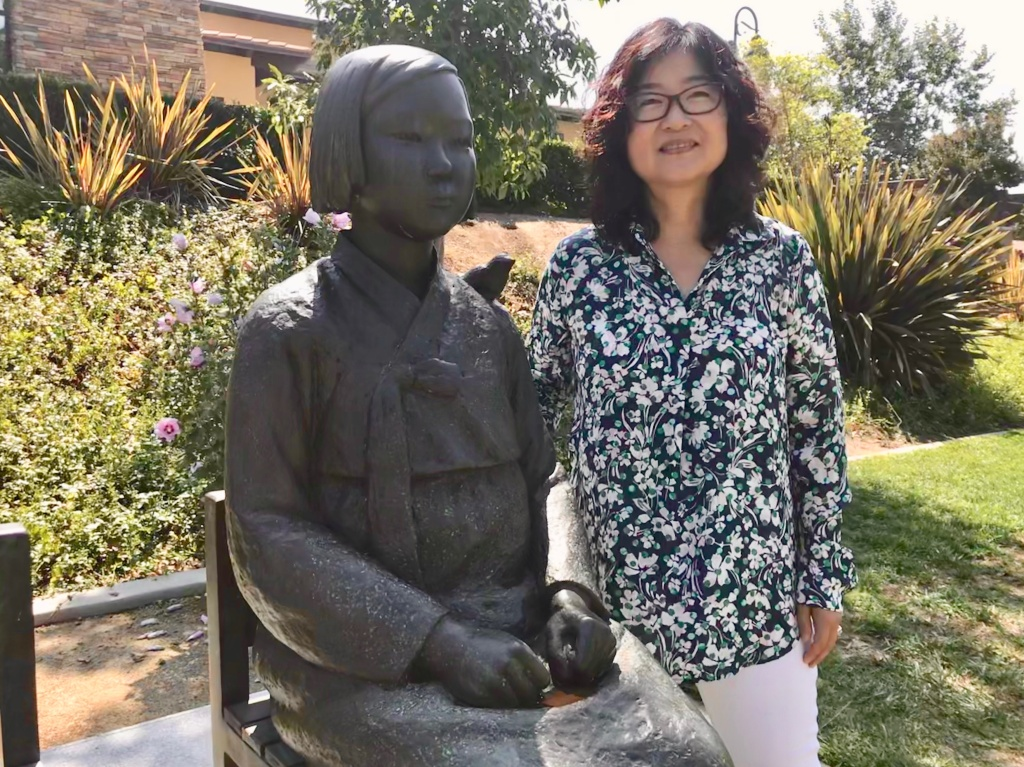 Phyllis Kim heads Comfort Women Action for Redress and Education (CARE) which led the effort to install a memorial to comfort women in Glendale.