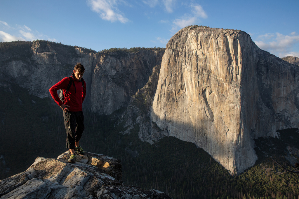 Professional adventure climber Alex Honnold in Yosemite National Park.