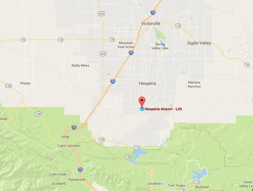 1 killed in ultralight crash in San Bernardino County
