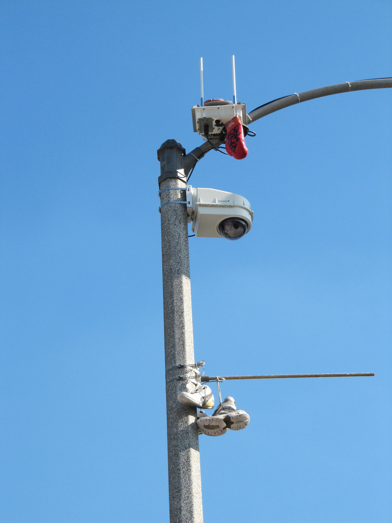A surveillance camera on York Blvd in Highland Park.
