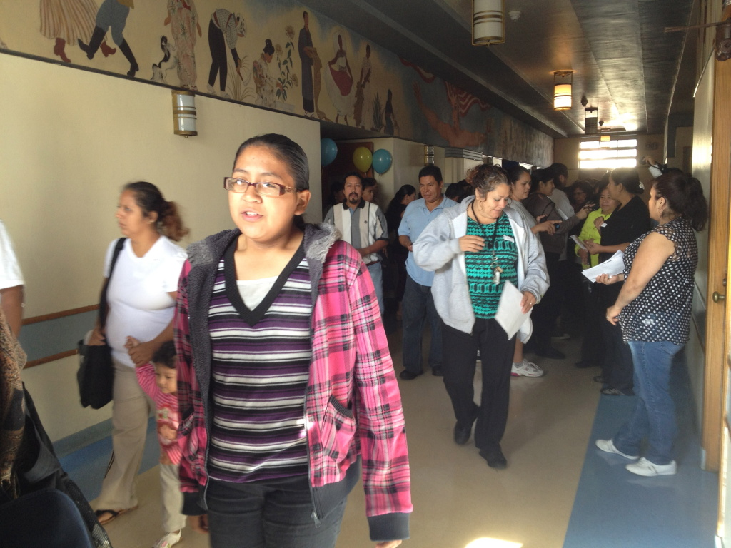 Latino parents enrolled in Parent College in Boyle Heights.