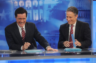 Late night hosts, Stephen Colbert and Jon Stewart