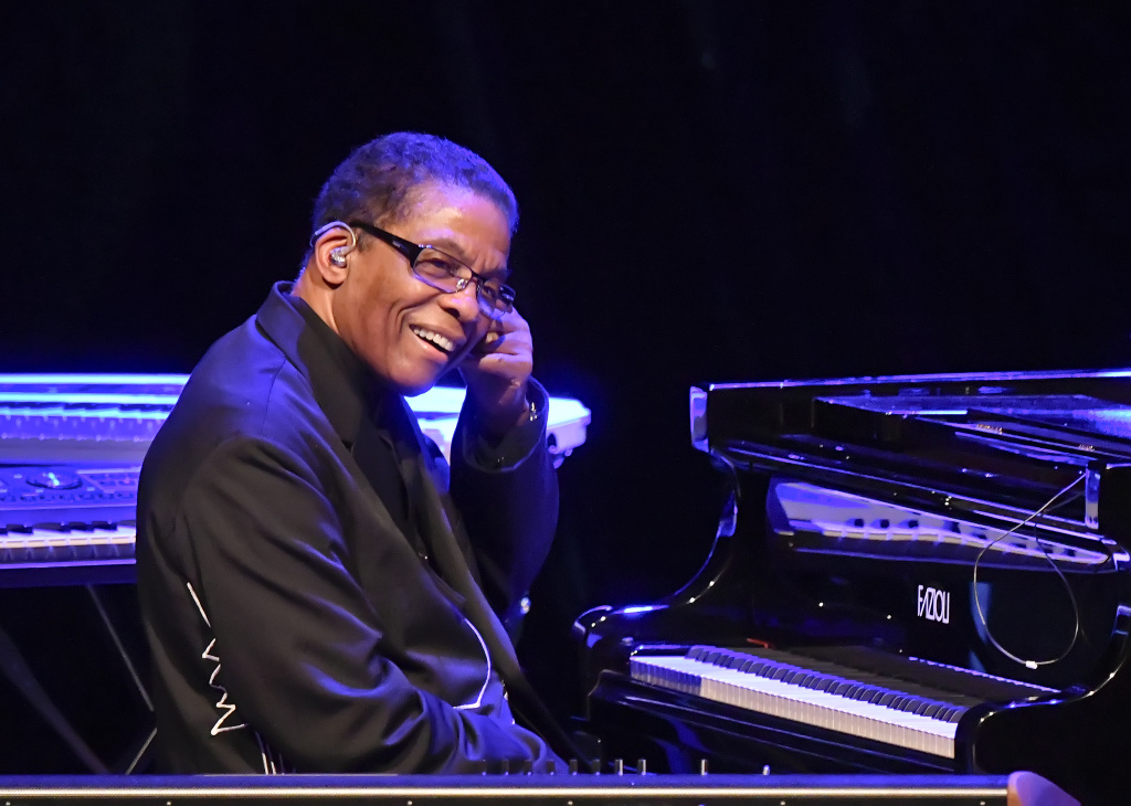 US jazz pianist and composer Herbie Hancock performs on stage during a concert at Vienna State Opera in Vienna, Austria, on July 4, 2017.