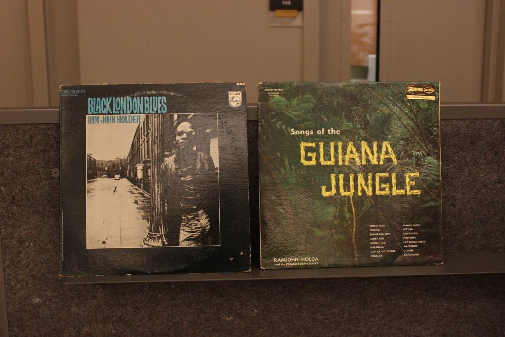(Left) Black London Blues by Ram John Holder. (Right) In Songs of the Guiana Jungle by RamJohn Holda.