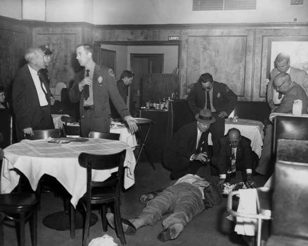 A 1948 photo of a Gangster Squad outing taken by squad member Conwell Keeler.