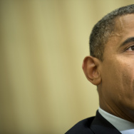US President Barack Obama speaks to the