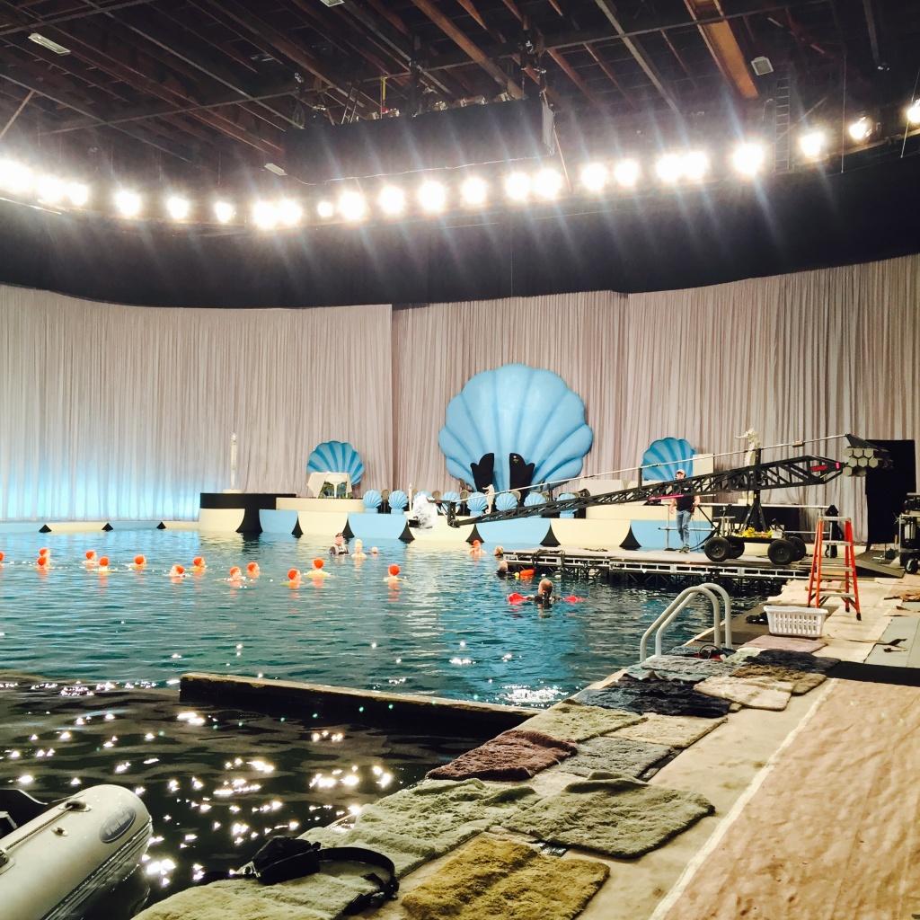 On set of