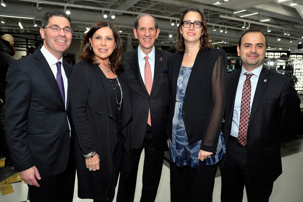 Laura Friedman (second from right) attends Bloomingdale's opening gala celebration on November 6, 2013 in Glendale, California.