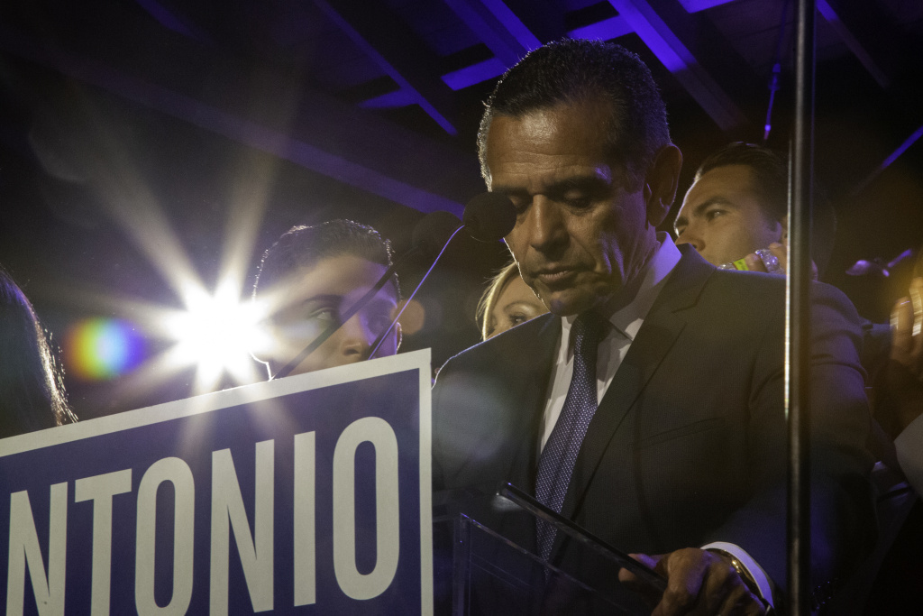 Antonio Villaraigosa concedes in the race to be California's next governor Tuesday night, June 5, 2018.