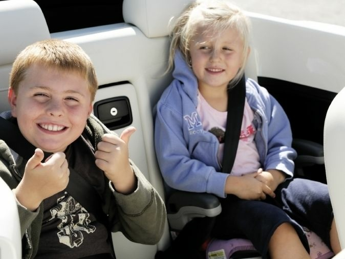 Booster seats reduce children's risk of injury by more than half.