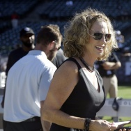 Beth Mowins, a play-by-play announcer and sports journalist for ESPN and CBS.