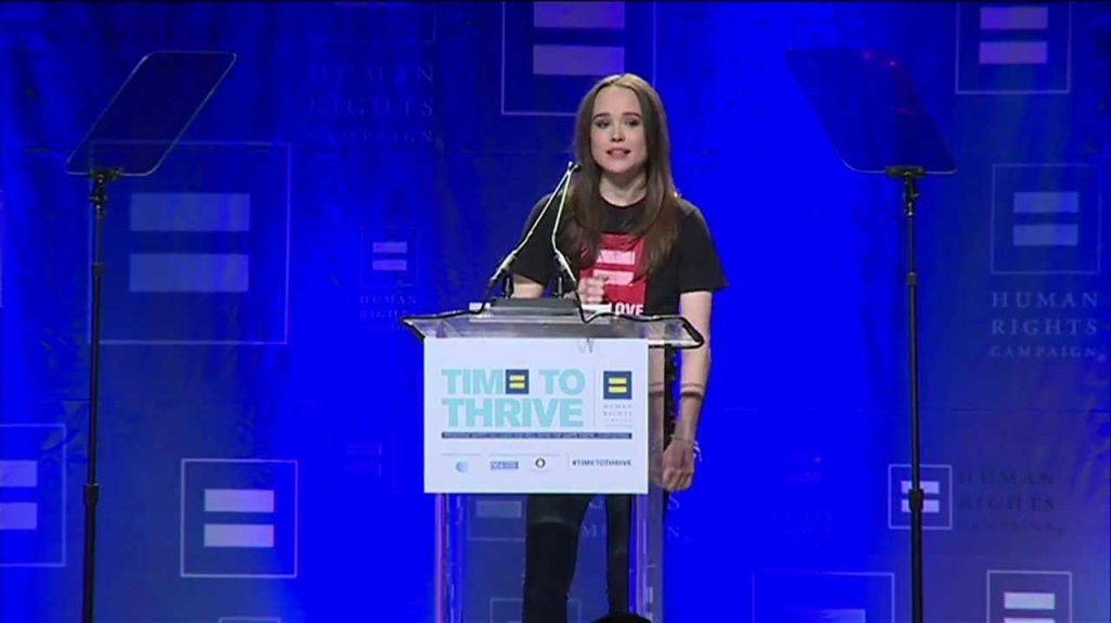 On Friday, February 14, actress Ellen Page speaks about the brave decision to live openly and authentically.  Read the transcript of her remarks here: http://www.hrc.org/files/assets/resources/Ellen-Page-Remarks.pdf  http://www.HRC.org