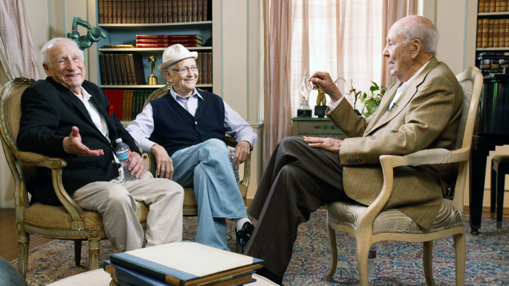From left: Mel Brooks, Norman Lear and Carl Reiner discuss life at 90 and beyond for Reiner's documentary,