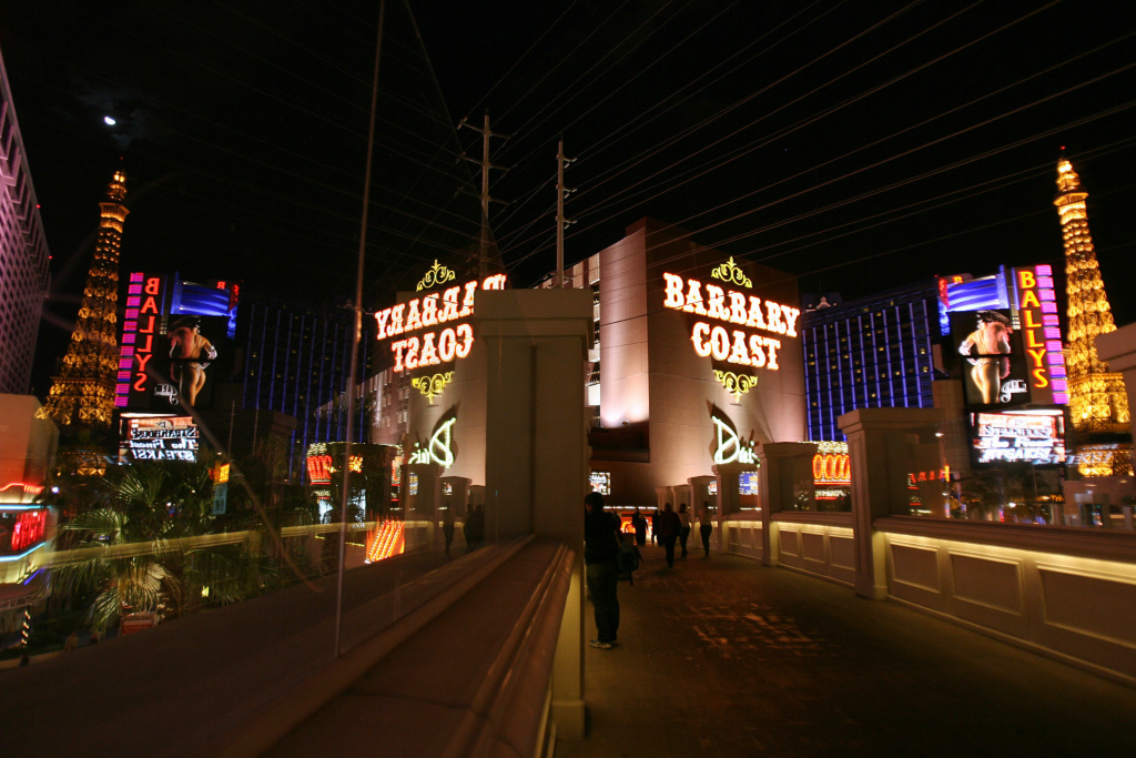 View of the Barbary Coast restaurant in Las Vegas, Nevada on November 12, 2006.