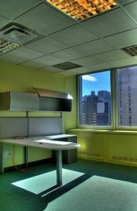 An empty office.