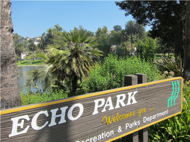 echo park sign lake