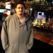 Alberto of The Bridge Tavern in the Bronx. Monday, October 29, 2012.