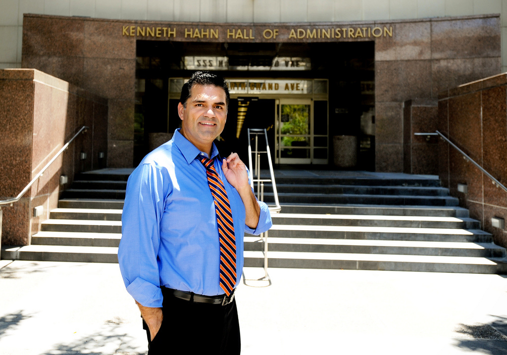 Los Angeles County Assessor John Noguez announced today he will take a leave of office while the district attorney continues to look into allegations of misconduct.
