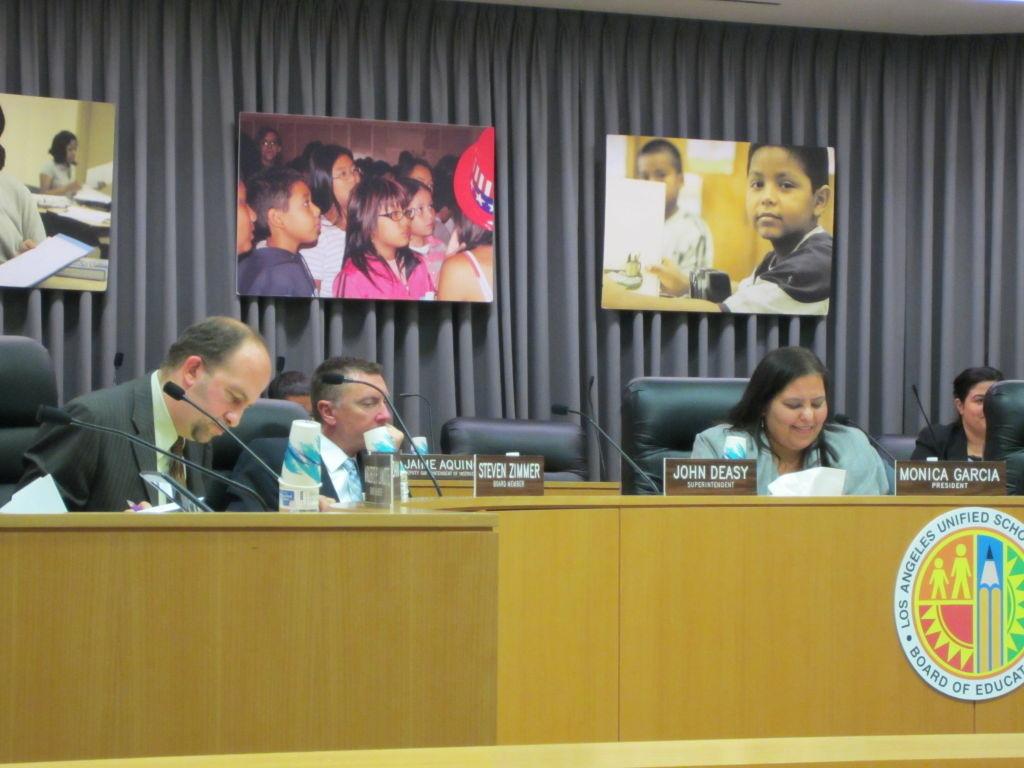 LAUSD Board of Education meeting Jan. 17, 2012.