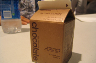 Chocolate milk carton
