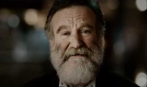 Robin Williams and his daughter Zelda in a