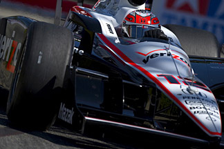 Will Power of Australia, driver of the #12 Team Penske Dallara Honda, practices for the IndyCar Series Toyota Grand Prix of Long Beach on April 15, 2011 on the streets of Long Beach, California.