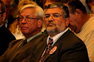 Mahmoud Harmoush at a Temecula planning commission hearing, December 2010.