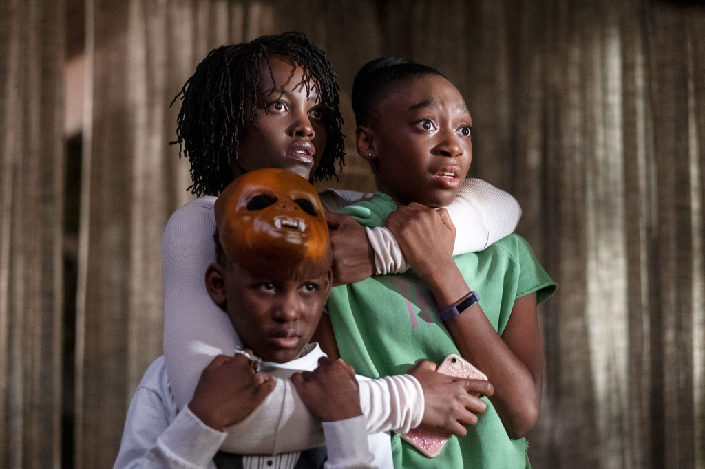 Lupita Nyong'o, Evan Alex, and Shahadi Wright Joseph in Us (2019).