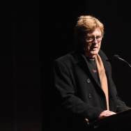 "President and founder of the Sundance Institute Robert Redford speaks on stage at Netflix's ""What Happened, Miss Simone"" Sundance world premiere with special performance by John Legend on January 22, 2015 in Park City Utah."