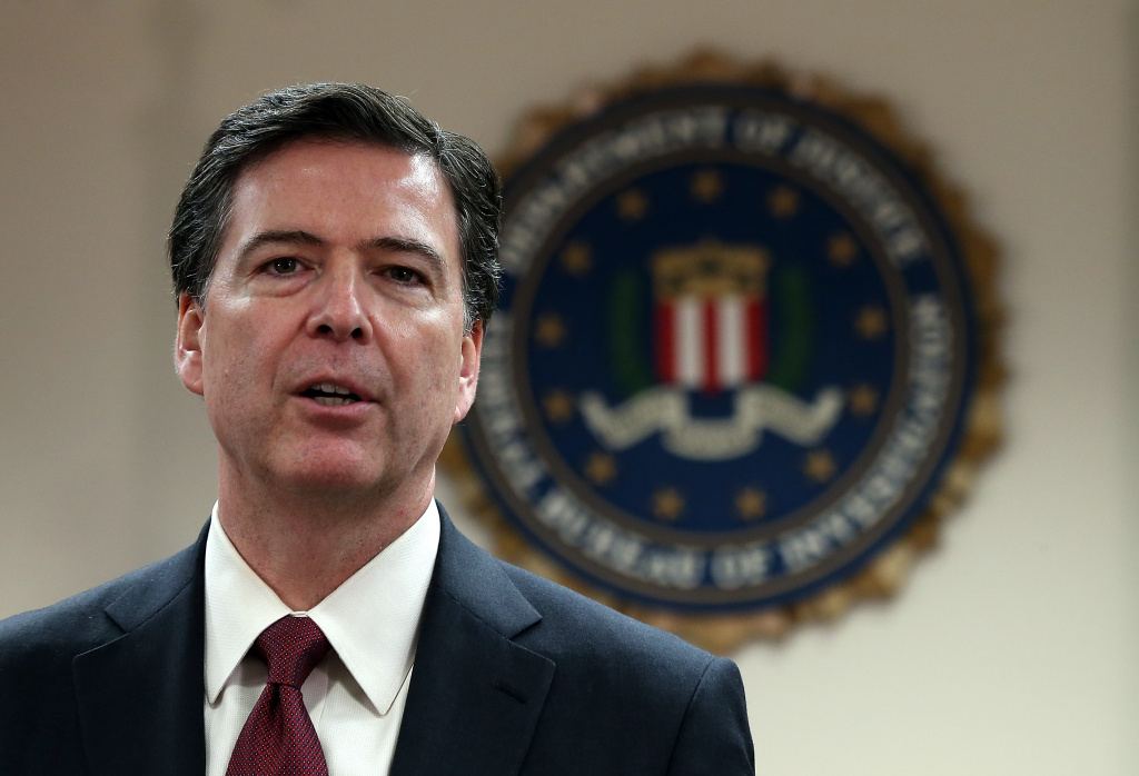 FBI director James Comey speaks during a news conference at the Phillip Burton Federal Building on February 27, 2014 in San Francisco, California. (Photo by Justin Sullivan/Getty Images)