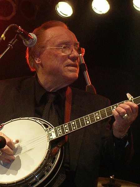Earl Scruggs in 2005, photo by Rivers Langley.