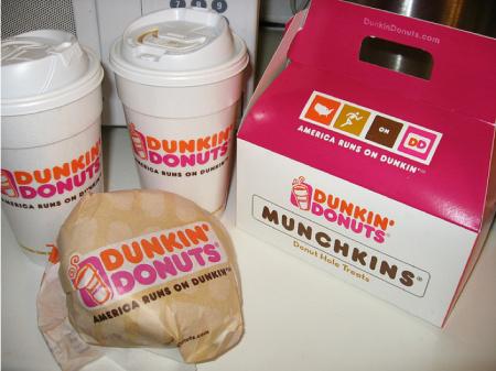 dunkin' donuts to california
