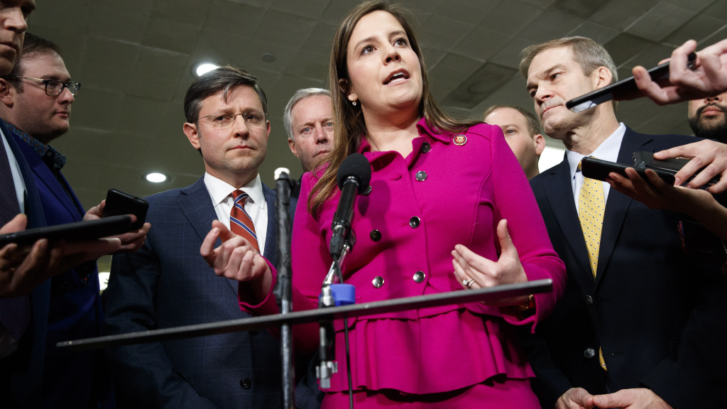 Rep. Elise Stefanik, R-N.Y., took it upon herself to help boost women's numbers in a party dominated by white men.
