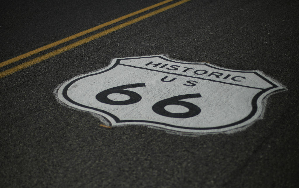 """Just in time for summer road trips, San Bernardino County has designated Route 66 from Victorville to the Arizona state line an official """"scenic highway."""