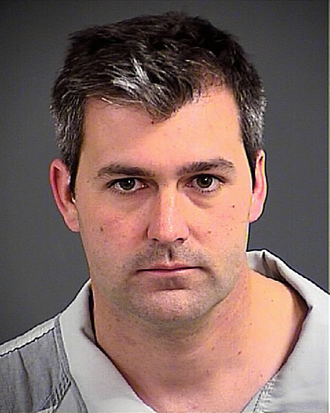 This photo provided by the Charleston County, S.C., Sheriff's Office shows Patrolman Michael Thomas Slager on Tuesday, April 7, 2015. Slager has been charged with murder in the shooting death of a black motorist after a traffic stop.